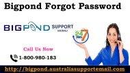 Get Bigpond Forgot Password 1-800-980-183 To Regain Hacked Bigpond