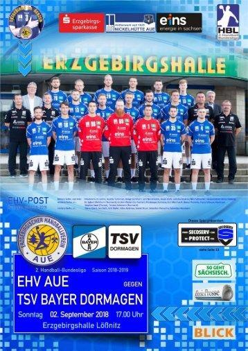 EHV-Post: EHV Aue gegen TSV Bayer Dormagen