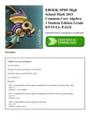 EBOOK $PDF High School Math 2015 Common Core Algebra 1 Student Edition Grade 89 FULL-PAGE