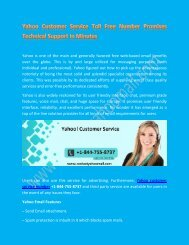 Contact Yahoo Customer Service (+1) 844-755-8737 Effective Support