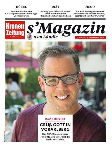 s'Magazin usm Ländle, 2. September 2018