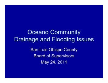 Oceano Community Drainage and Flooding Issues