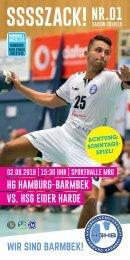 SSSSZACK! HGHB vs HSG Eider Harde