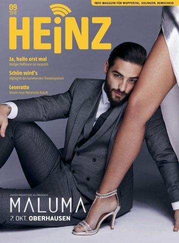 09-2018 HEINZ MAGAZIN Wuppertal - Solingen - Remscheid