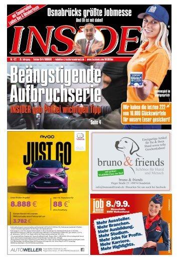 INSIDER Osnabrück // September 2018 // No. 422