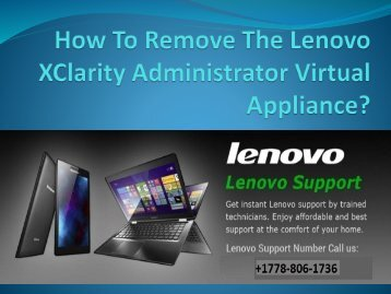 How To Remove The Lenovo XClarity Administrator Virtual Appliance