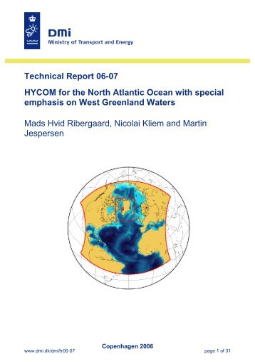 Technical Report 06-07 HYCOM for the North Atlantic Ocean ... - DMI
