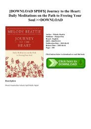 [DOWNLOAD $PDF$] Journey to the Heart Daily Meditations on the Path to Freeing Your Soul DOWNLOAD