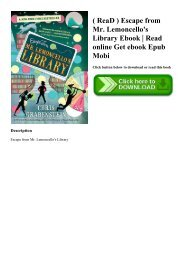 ( ReaD ) Escape from Mr. Lemoncello's Library Ebook  Read online Get ebook Epub Mobi
