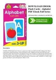 DOWNLOAD EBOOK Flash Cards - Alphabet PDF Ebook Full Series