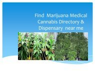 Find Marijuana Medical Cannabis Directory & Dispensary near me