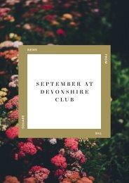 September at Devonshire Club