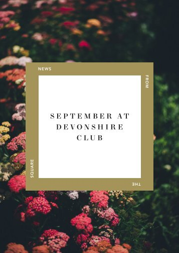 September at Devonshire Club