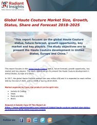Global Haute Couture Market Size, Growth, Status, Share and Forecast 2018-2025