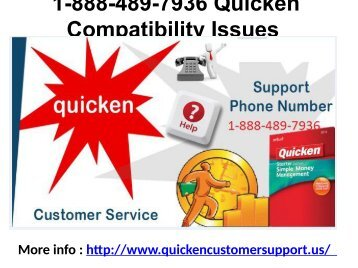 1-888-489-7936 Quicken Compatibility Issues