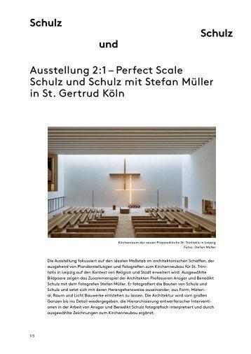 Religion und Stadt: Positionen zum zeitgenössischen Sakralbau in Deutschland