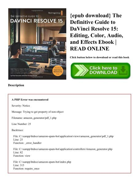 epub download} The Definitive Guide to DaVinci Resolve 15