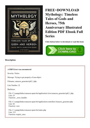 FREE~DOWNLOAD Mythology Timeless Tales of Gods and Heroes  75th Anniversary Illustrated Edition PDF Ebook Full Series