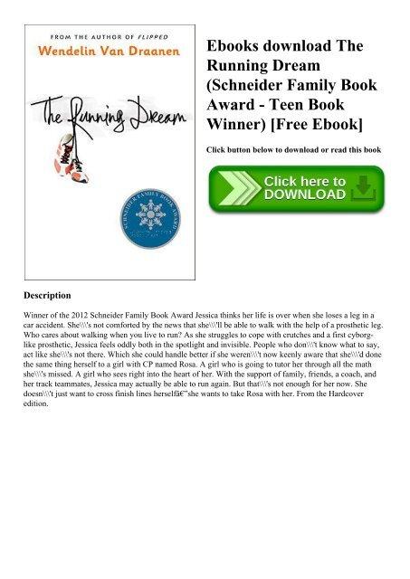 Ebooks download The Running Dream (Schneider Family Book