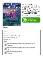 Ebook [Kindle] Long Live the Queen Help for Children Who Have a Loved One With Cancer Forman EPUB  PDF