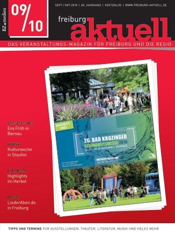 Freiburg Aktuell, Ausgabe September / Oktober 2018