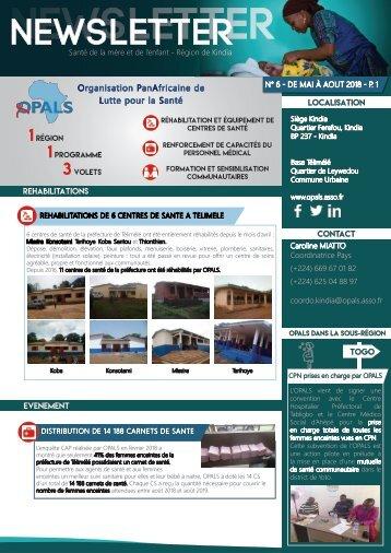 Newsletter OPALS - mai_juin_juillet 2018