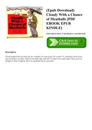 (Epub Download) Cloudy With a Chance of Meatballs [PDF EBOOK EPUB KINDLE]