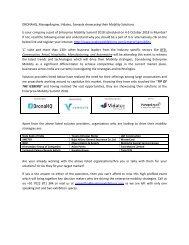 DronaHQ, ManageEngine, Vidatec, Samayla showcasing their Mobility Solutions