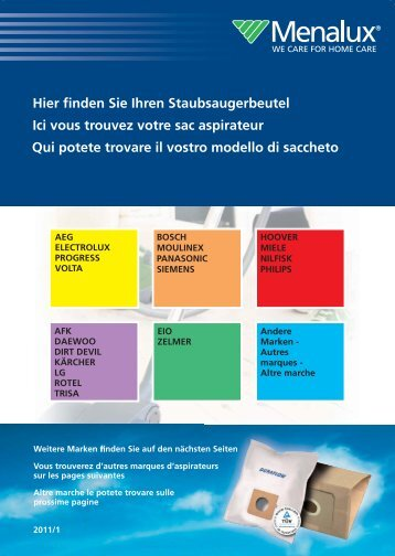 Menalux Katalog 2011.indd - Electrolux