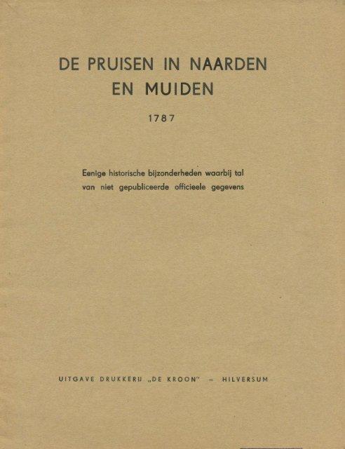 Pruisen in Naarden en Muiden 1787