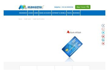 Bank Alfalah Credit Card Offers
