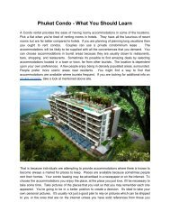 Phuket Condo - What You Should Learn