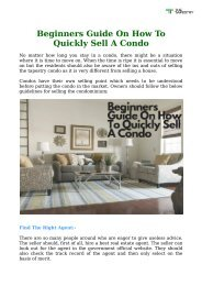 Beginners Guide On How To Quickly Sell A Condo