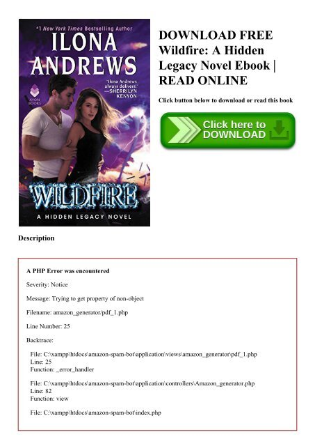 DOWNLOAD FREE Wildfire A Hidden Legacy Novel Ebook READ ONLINE