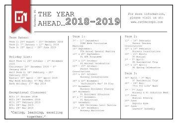 The Year Ahead 2018 - 2019