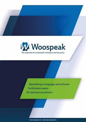Woospeak Flyer Individual Online Trainings, Foreign Language - and IT Trainings