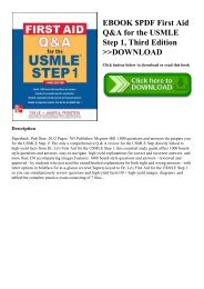 EBOOK $PDF First Aid Q&A for the USMLE Step 1  Third Edition DOWNLOAD