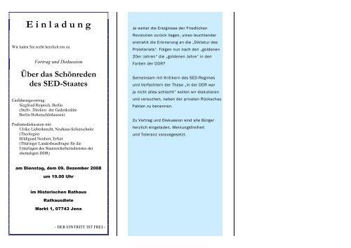 Vortrag und Diskussion: Über das Schönreden des SED