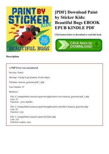 [PDF] Download Paint by Sticker Kids Beautiful Bugs EBOOK EPUB KINDLE PDF