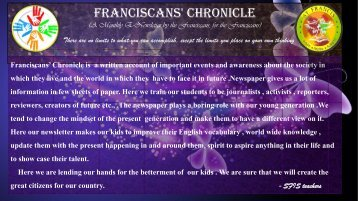 Franciscans' trends