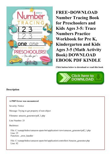 FREE~DOWNLOAD Number Tracing Book for Preschoolers and Kids Ages 3-5 Trace Numbers Practice Workbook for Pre K  Kindergarten and Kids Ages 3-5 (Math Activity Book) DOWNLOAD EBOOK PDF KINDLE