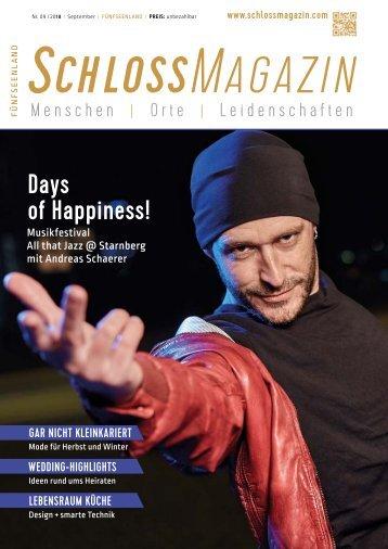 SchlossMagazin Fünfseenland September 2018