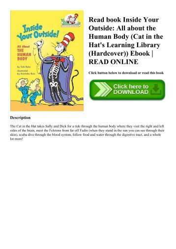 Read book Inside Your Outside All about the Human Body (Cat in the Hat's Learning Library (Hardcover)) Ebook  READ ONLINE