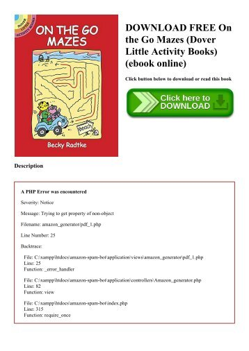 DOWNLOAD FREE On the Go Mazes (Dover Little Activity Books) (ebook online)
