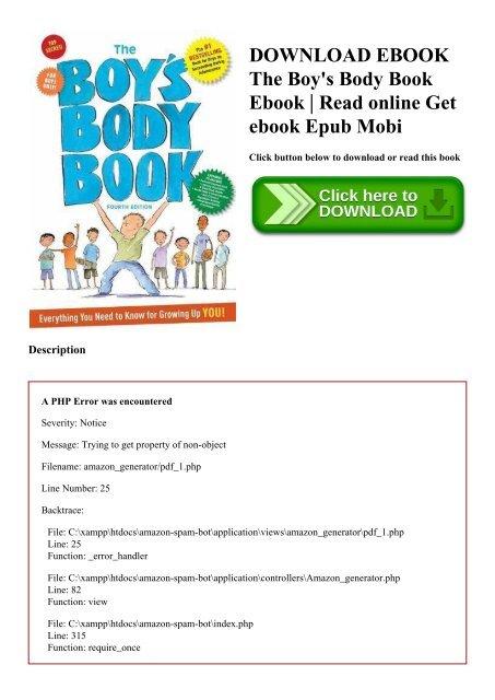DOWNLOAD EBOOK The Boy's Body Book Ebook Read online Get ebook Epub Mobi