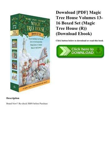 Download [PDF] Magic Tree House Volumes 13-16 Boxed Set (Magic Tree House (R)) (Download Ebook)