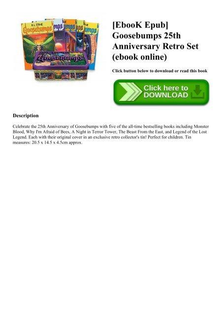 [EbooK Epub] Goosebumps 25th Anniversary Retro Set (ebook online)
