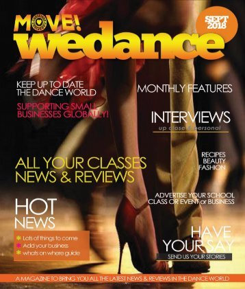 MOVE RADIO ~ WE DANCE MAGAZINE, 1st edition