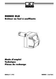 Le servomoteur et le clapet d'air ne doivent buter - Remko