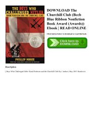 DOWNLOAD The Churchill Club (Bccb Blue Ribbon Nonfiction Book Award (Awards)) Ebook  READ ONLINE